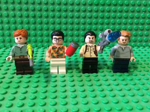 LEGO 75938 Minifigures 4 Jurassic World Danny Nedermeyer Vic Hoskins Claire Owen