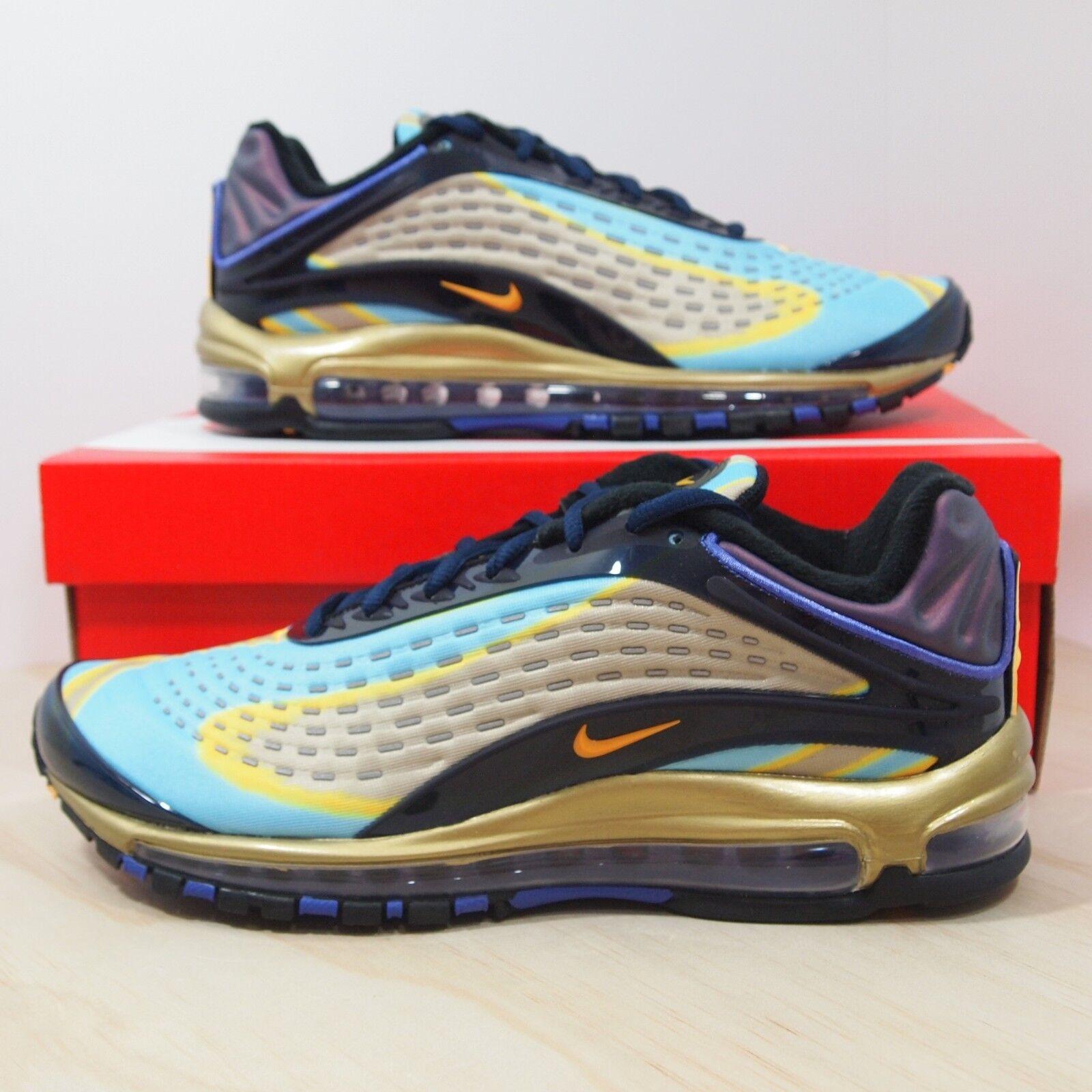 Nike Air Max Deluxe Men's Size 10.5 Midnight Navy Laser orange AJ7831-400