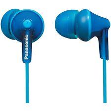 NEW Panasonic RP-HJE125-D Stereo In Ear Canal Bud Ergofit Headphones Blue