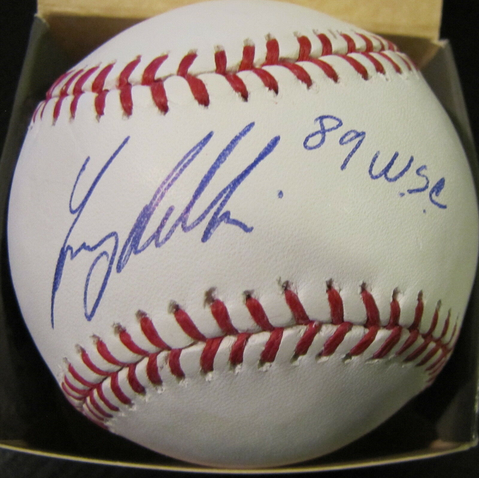Tony Phillips Oakland Oakland Oakland A'S 89 Wsc Firmado Oficial Major League Béisbol 75bfc9