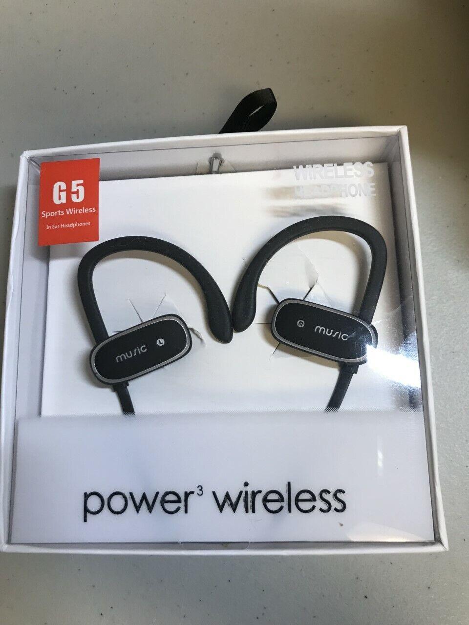 Power3 Wireless Sports Bluetooth In-ear Headphones Stereo Headset Red