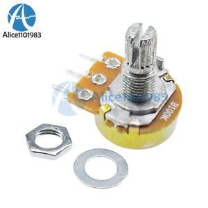 10PCS-100K-ohm-Linear-Taper-Rotary-Potentiometer-Panel-pot-B100K-15mm-WH148-3Pin