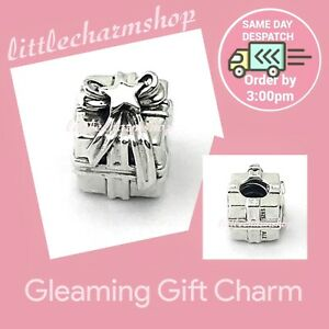 New-Genuine-PANDORA-Sterling-Silver-Gleaming-Gift-Charm-791987-RETIRED