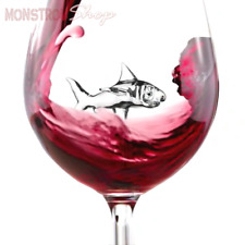 The Shark Wine Glass by MonstrouShop - 20 oz - Lead-free Crystal - FREE SHIPPING