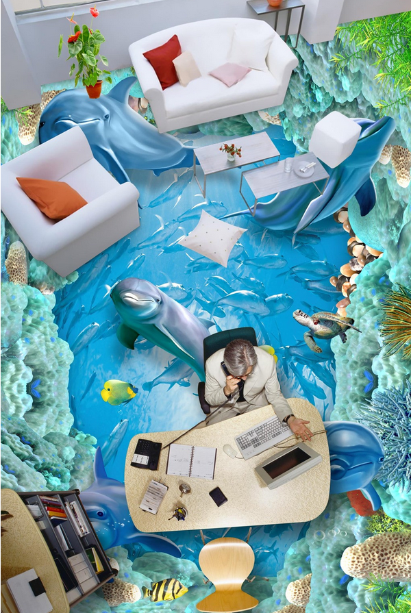 3D Delphine Meer 540 Fototapeten Wandbild Fototapete Tapete Familie DE Lemon