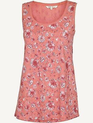 BNWT Women/'s Fat Face Pink//Rose Kaleidoscope Floral Tank