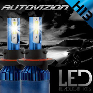 H13 PHILIP 488W 48800LM Hi/Lo Beam COB LED Headlight Kit Bulb White 6000k 9008