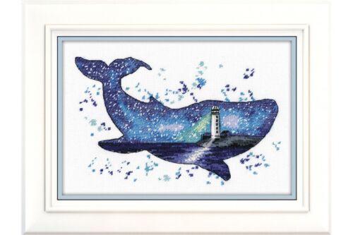 1039 Whale art Cross Stitch Kit Animal world