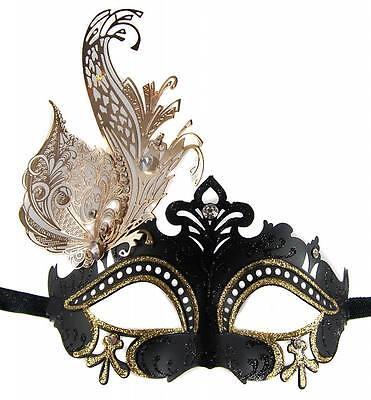 VENETIAN MASQUERADE MARDI GRAS Mask BLACK & GOLD - NEW ARRIVAL