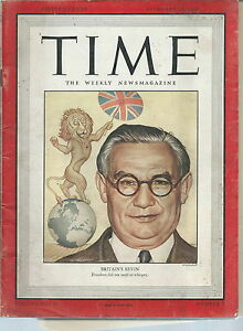 NI-028-Time-Magazine-February-18-1946-Issue-Britain-039-s-Bevin-Cover-Vintage