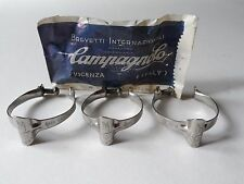 *NOS Vintage 1970s Campagnolo Record top tube brake cable clips (set of 3)*