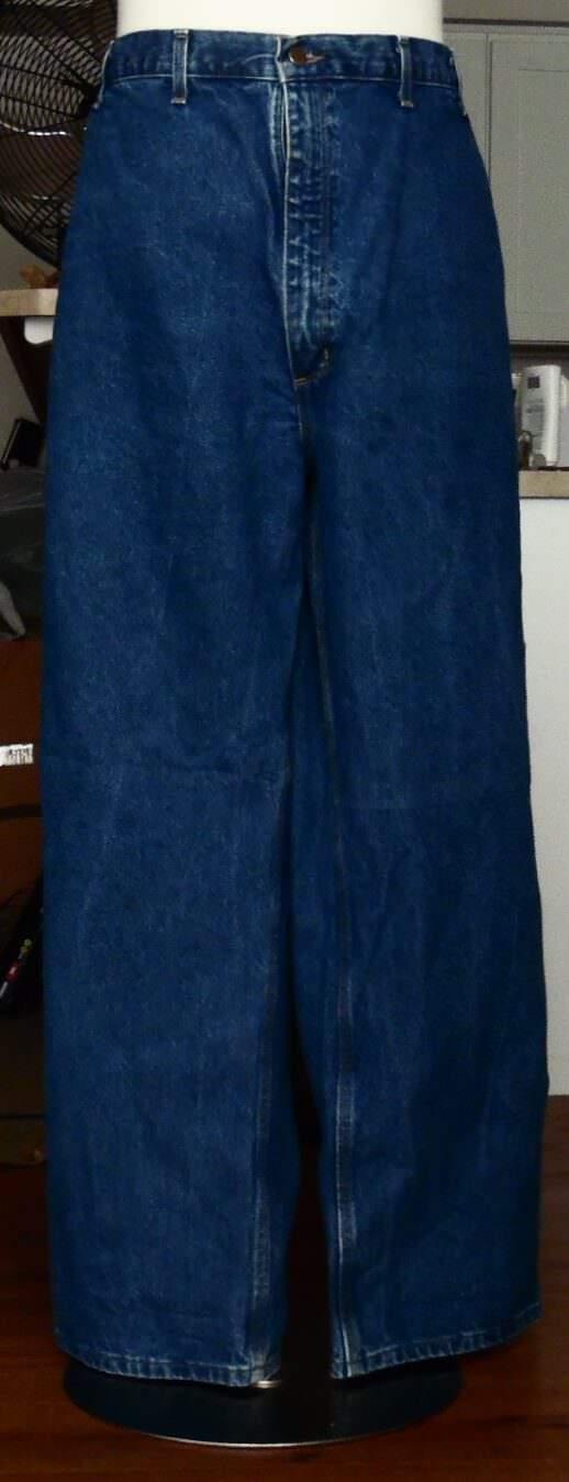 Mens Carhartt Cargo bluee Denim Jeans Big & Tall Size 50 x 32