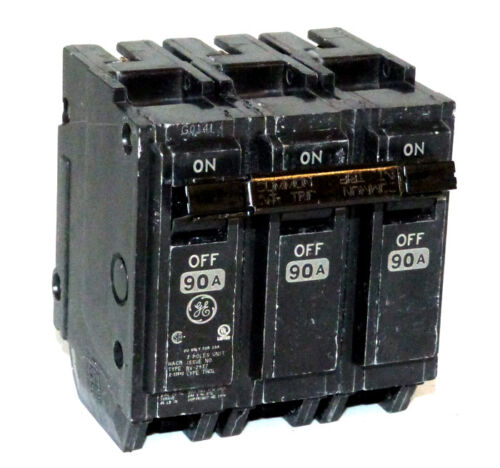 Genaral Electric THQL32090 3p 90a 240v Circuit Breaker NEW 1-yr Warranty