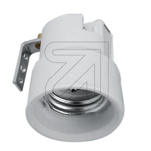 Fassung Porzellan E27 mit Metallwinkel