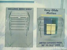 LAUNDRY DRYING RACK EXPANDABLE NEW WHITNEY DESIGN METAL CLOTHESLINE