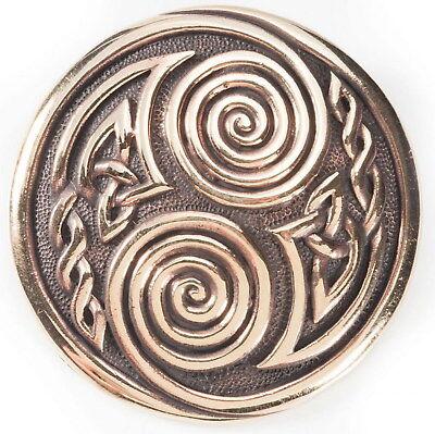 GemäßIgt Massiv Gewandspange Fibel Bronze M. Anhänge Öse F. Schmuckkette Kelten Wikinger Einfach Zu Reparieren