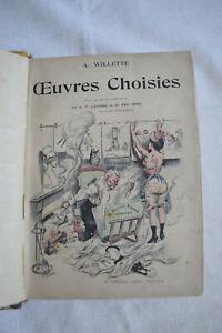 1901 Œuvres choisis Adolphe Willette 100 dessins du courrier francais 1884-1901