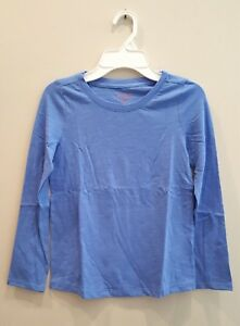 Girls-039-Cat-amp-Jack-Sea-Ship-Blue-Long-Sleeve-Shirt-Medium-Plus