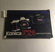Retro Vintage Konica FT-1 Motor 35mm Film SLR Camera - User Instruction Manual