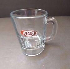 "A&W Root Beer Soda ""ALL AMERICAN FOOD"" Heavy Glass Bottom Mini Mug/Stein 3 1/4"""