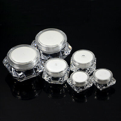 5G 10G 15G Sample Lip Balm Tiny Container Small Plastic Mini Bottle Jars Empty
