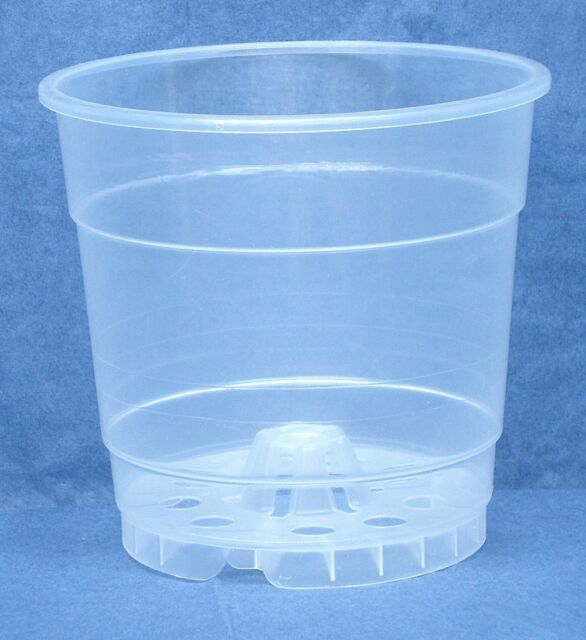 "Sima Clear Plastic Pot for Orchids 3 1//2/"" Diameter Quantity of 4"