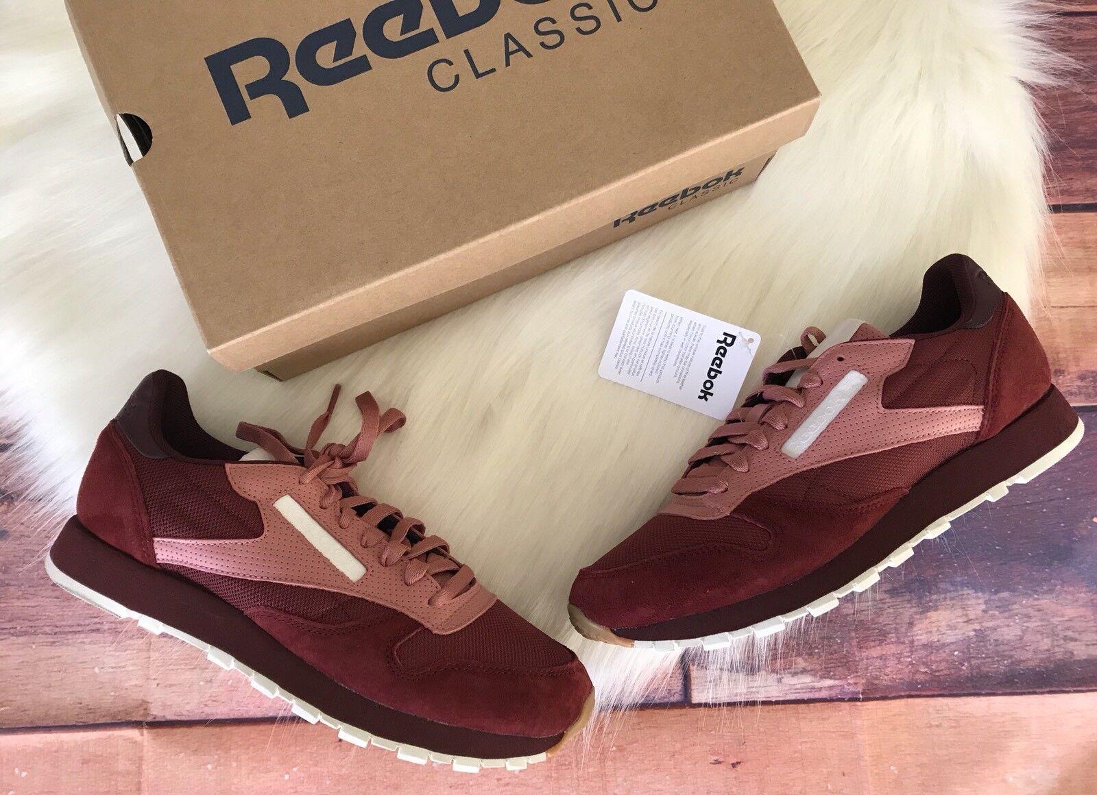 Reebok Classic Leather SM Sneakers Size 8 Berry New In Box Suede Scarpe classiche da uomo