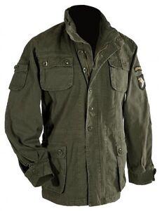 Oliv Washed Airborne Airborne Feldjacke Airbornejacke S Fieldjacket 5xl Armyjacke z4ZR7