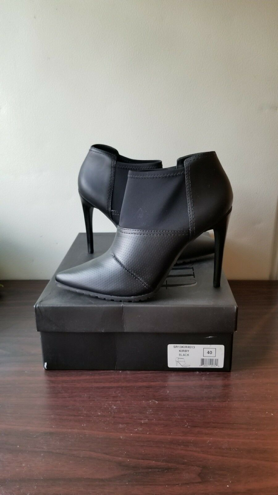 Tibi New York Black Leather Kirby Ankle Boot, Black size 10