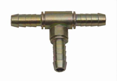Sytec Fuel Hose Fitting Metal T Piece 6mm MTP001