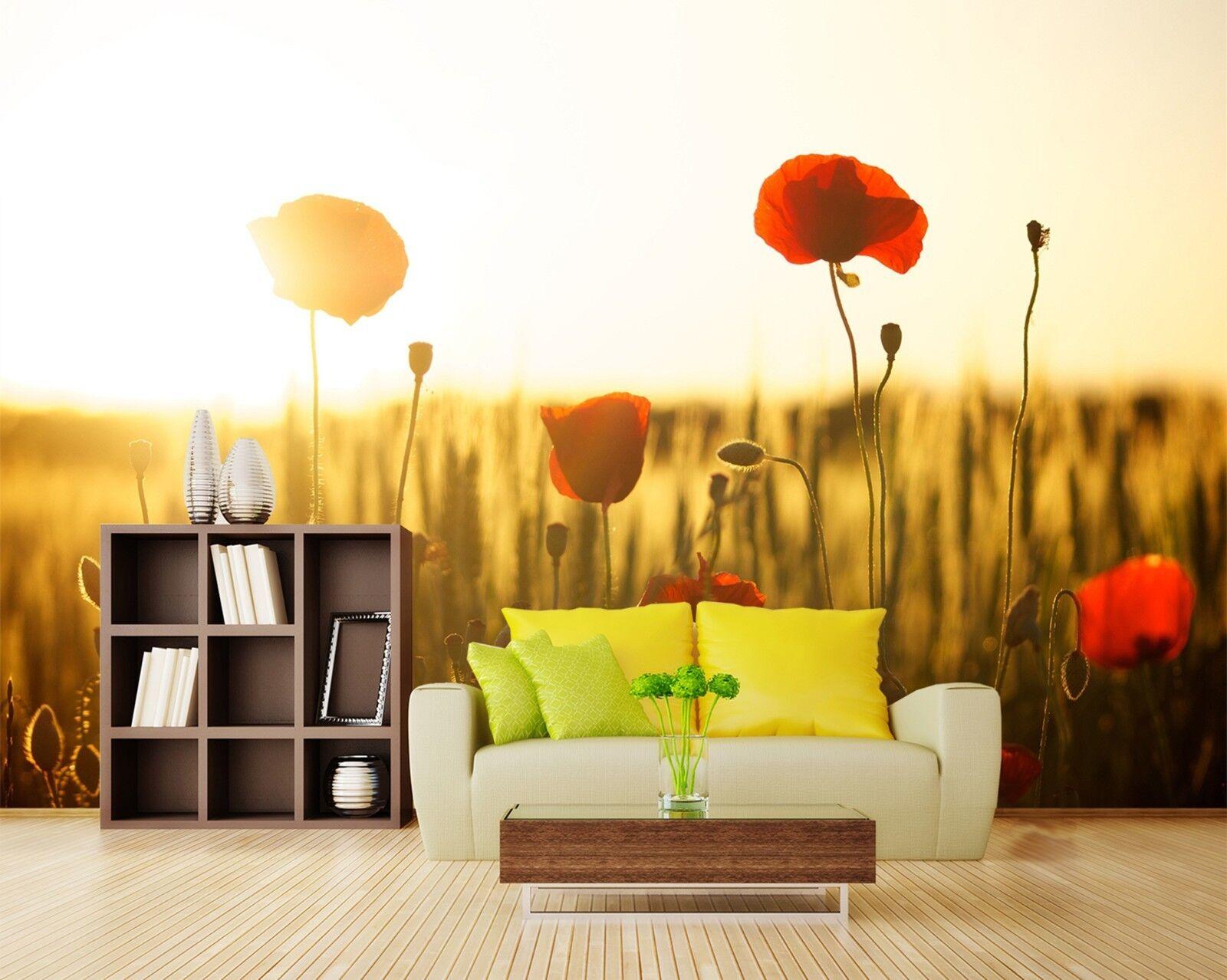 3D Sonnenschein Blaumen 893 Tapete Wandgemälde Tapeten Bild Familie DE Lemon