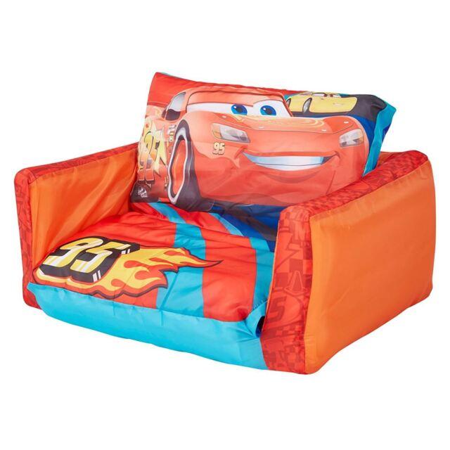 DISNEY CARS 3 Flip out gonflable Divan & CHAISE LONGUE 2 en 1 pour enfants NEUF