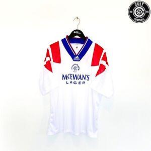1992/94 RANGERS Vintage adidas Away Football Shirt Jersey (XL) 44/46 McCoist Era