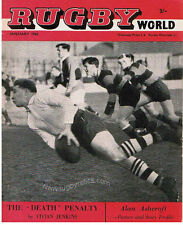 RUGBY WORLD MAGAZINE JAN 1962 VIVIAN JENKINS RONNIE DAWSON DAVID MARQUES