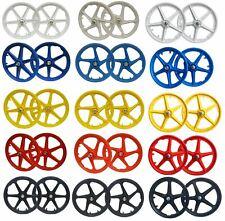 """20"""" BMX Mag Wheelset 5 or 6 Spoke Freestyle Retro Bike Colour Wheels"""