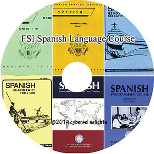 Details about 110 Hours Spanish Language Course FSI for Diplomats-complete  MP3 Audio on 1 DVD