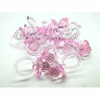 60 Big Diamond Cut Pacifiers Baby Shower Favors Pink Party Decorations Girl