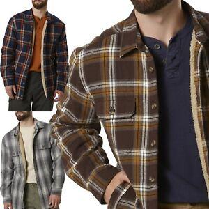 New-Mens-Padded-Sherpa-Fleece-Lined-Shirt-Lumberjack-Jacket-Flannel-Warm-Work