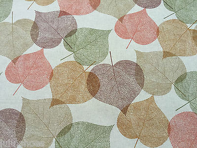 AUTUMN LEAVES Curtain Upholstery Cotton Fabric Material -140cm wide- birch leaf