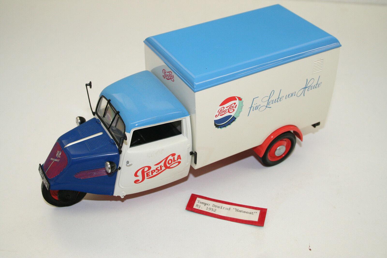 ModelllLAUTO 1  18  1950 - 52 TEMPO HANSEAT, blau Pepsi-Werbung MINICHAMPS TOP 035