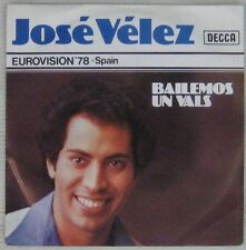 José Velez 45 Tours Eurovision 1978