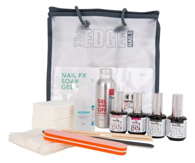 The Edge Nails Nail FX Soak off Gel Kit Starter Kit Manicure and Pedicure Set