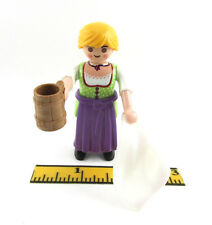 PLAYMOBIL~Lady~Waitress~Bar Maid~Diorama~Castle~Pirates~Beer~Dishes~Apron~Cloth