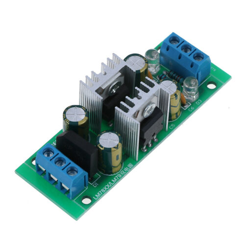 LM7812+LM7912±12V dual voltage regulator rectifier bridge power supply module.jr