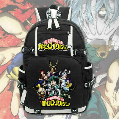 Anime My Hero Academia Backpack Knapsack Packsack School Student Bags
