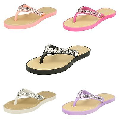 KR Savannah Girls G6R100 Yellow Slip on Floral /& Diamante Sandals