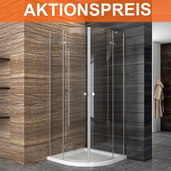 Duschkabine Runddusche eckeinstieg Duschabtrennung Viertelkreis ESG Glas Dusche