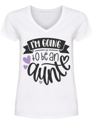 Image by Shutterstock I/'m Going To Be An Aunt V Neck Women/'s