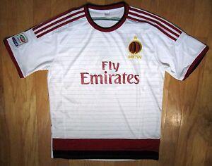 Ac Milan Serie A #4 Homme Multi-color Polyester Manches Courtes Football Chemise Taille L-afficher Le Titre D'origine Gamme ComplèTe D'Articles