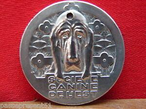 DernièRe Collection De Jolie Ancienne Médaille, Société Canine De L'est, G. Contaux 100% D'Origine